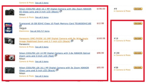 Amazon offers a list of items that you can sell on your website
