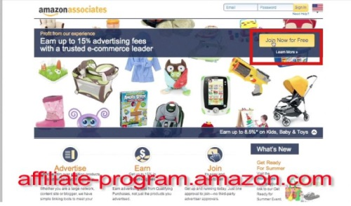 Visit affiliate-program.amazon.com to sign up for their affiliate program