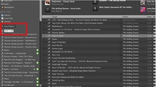 """To create a new playlist, simply click the """"New Playlist"""" option on the left sidebar"""