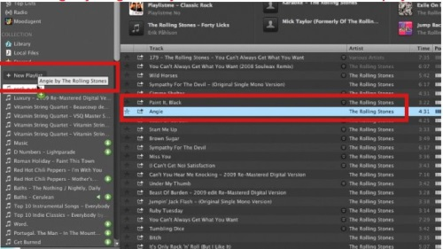 Drag any song into any name on the left to add it to that playlist