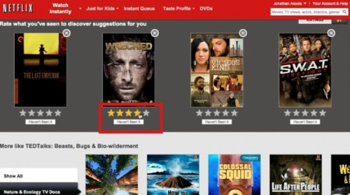 Netflix separates their titles by genres for easier title searching