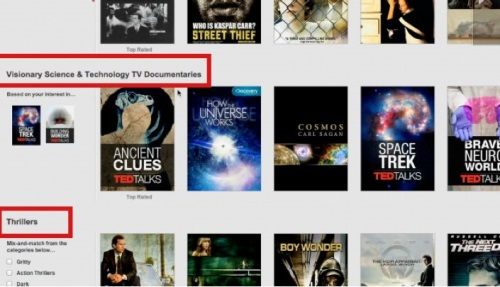 Netflix also offers an 'instant queue to save movies for screening at a later time