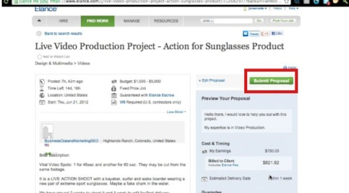 Once you are finished with your bid, confirm and click the 'Submit Proposal button