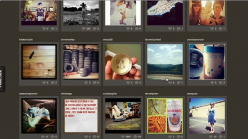 Once logged in, you can see a thumbnail list of all of your friend's instagram photos