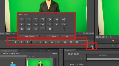 Customize your edit buttons by clicking on the bottom right corner of the Source window and choosing your buttons