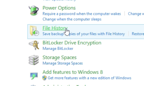 Go to File History