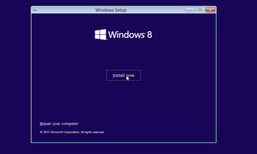 how to partition a hard drive while installing windows 8