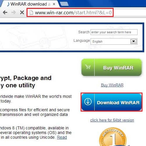 Log on to WinRAR website and download it