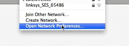 select open network preferences