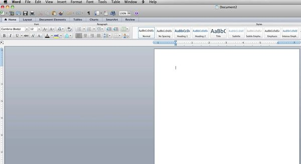 open any application from Office for Mac 2011