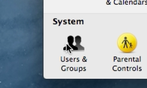Go to Users&Groups