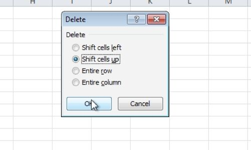 Select delete options
