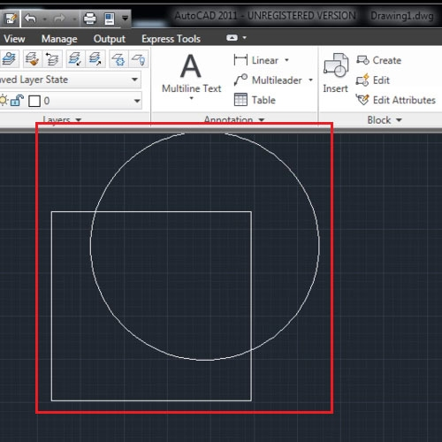 Make overlapping shapes