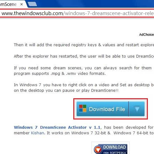 Go to the dreamscene website and download the application