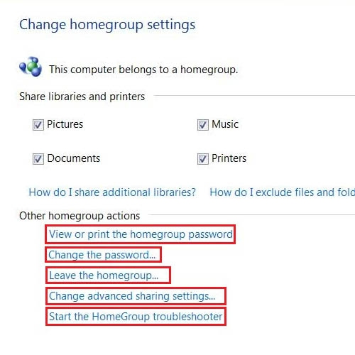 View or Edit home network settings
