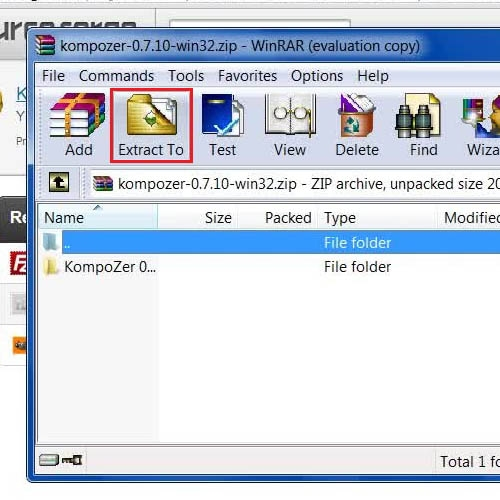 Use a Compression software to extract the downloaded file