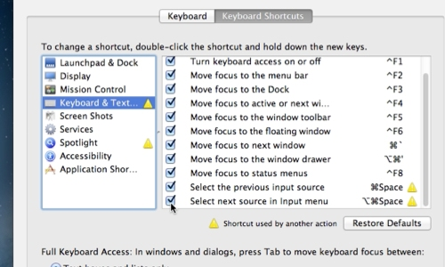 Add keyboard shortcuts for switching between languages