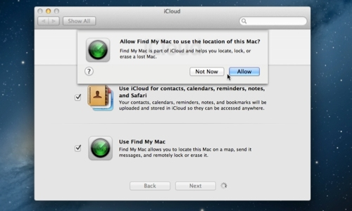 Enable Find My Mac