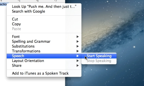 Use text to speech