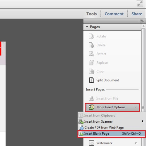Add blank page to create a new PDF