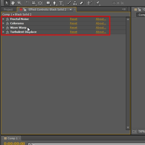 Applying effects on solid layer