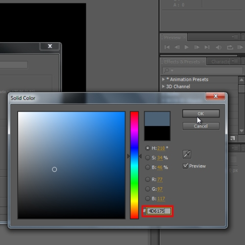 Generate a solid layer