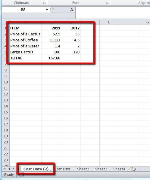 The data in the new sheet is identical to the copied sheet