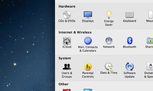 Go to iCloud in System Preferences