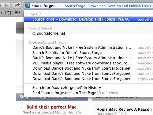 Go to sourceforge.net