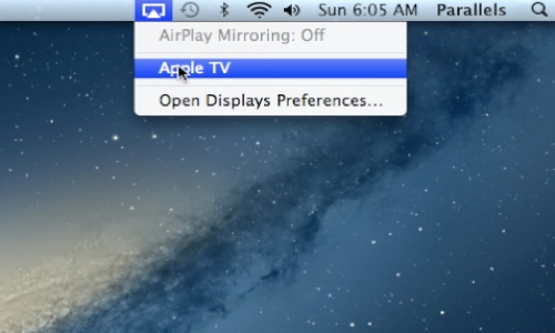 Click on the AirPlay icon