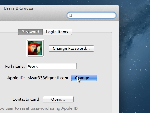 Open the dialogue to creation of new Apple ID