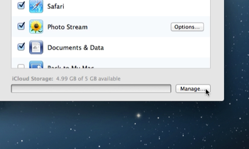 Manage iCloud space