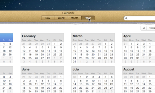 Choose Calendar view