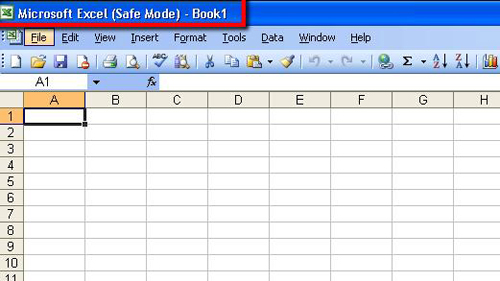 Excel 2003 running in safe mode