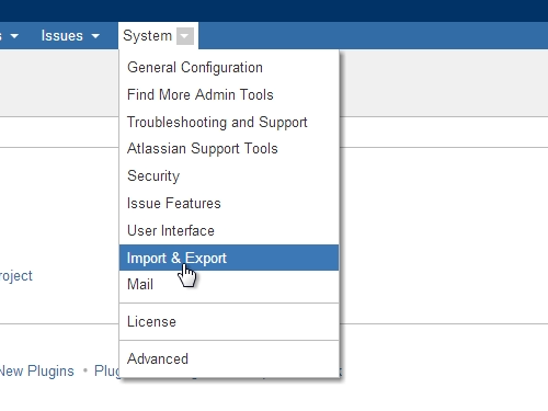 Import CSV file in the JIRA application