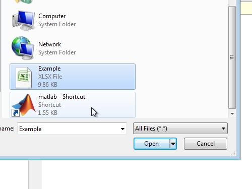 Open the Excel file