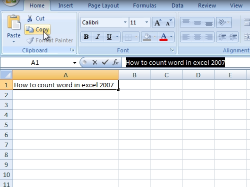 Copy data from excel