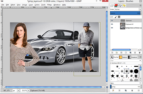 Create image including layers