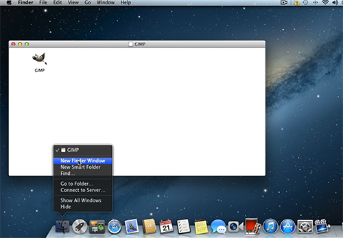 Choose New Finder Window