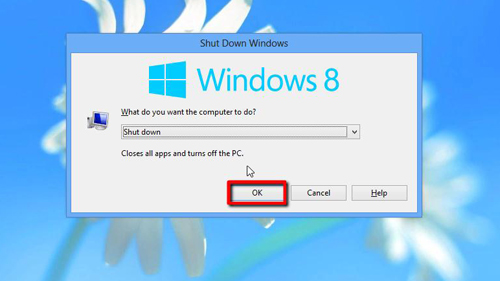 The Windows 8 shutdown window
