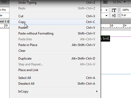 Copy text to the clipboard