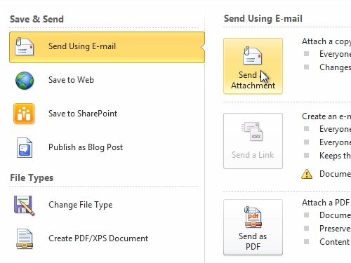 Attach a Word document to a letter