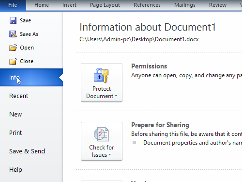 Find the information about the document properties