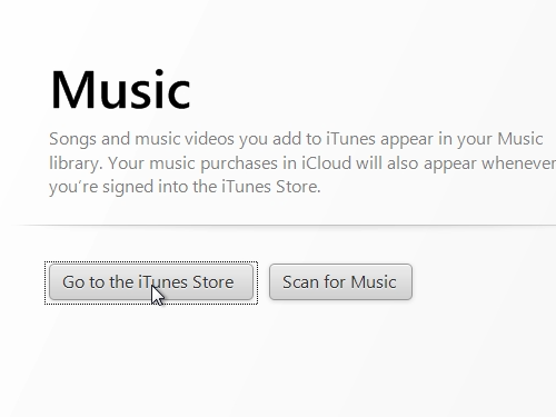 Open the iTunes Store