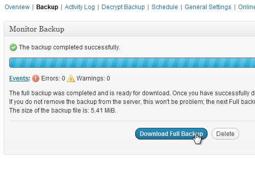 Download Full Backup