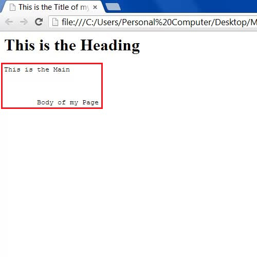 Showing white spaces on a html page