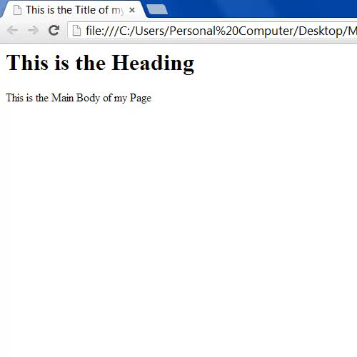 View the HTML page