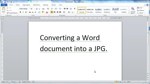 The Word document to convert
