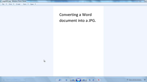 The converted document in jpg format