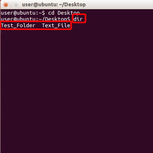 Dir command for directory